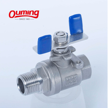 2PC Ball Valve Butterfly Handle 1000WOG